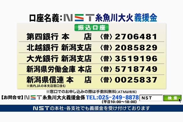 NST糸魚川大火義援金受付